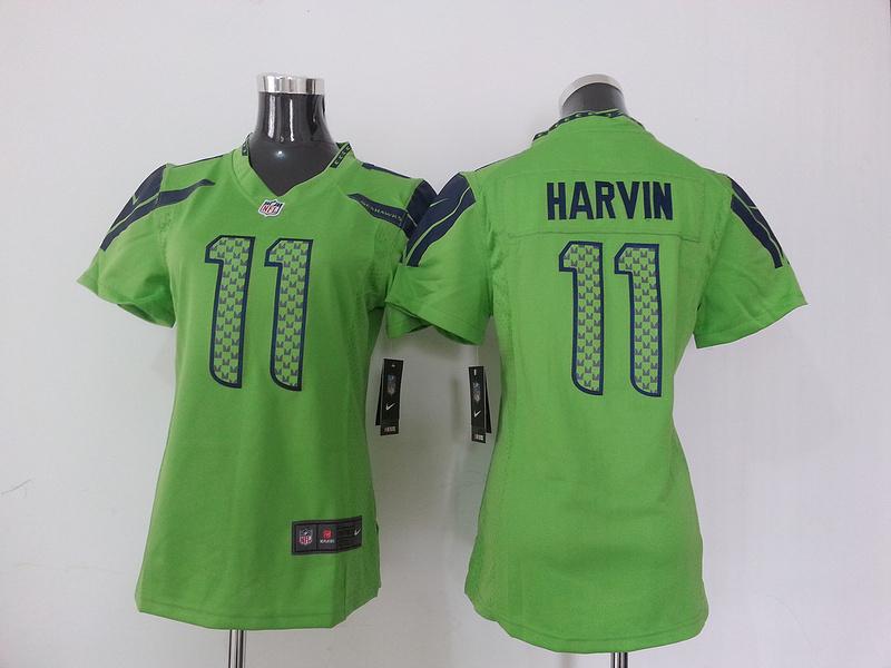 Womens Seattle Seahawks 11 Harvin Green Nike NFL Jersey