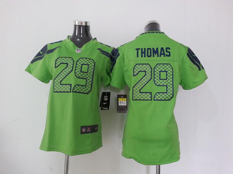 Womens Seattle Seahawks 29 Thomas Green Nike NFL Jersey