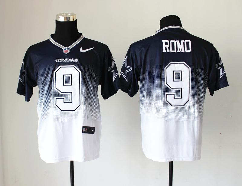 Dallas Cowboys 9 Tony Romo Blue White Nlike Drift Fashion II Elite Jerseys