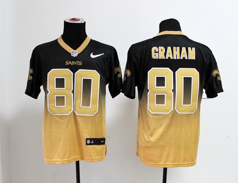 New Orleans Saints 80 Jimmy Graham Blank Gold Nlike Drift Fashion II Elite Jerseys