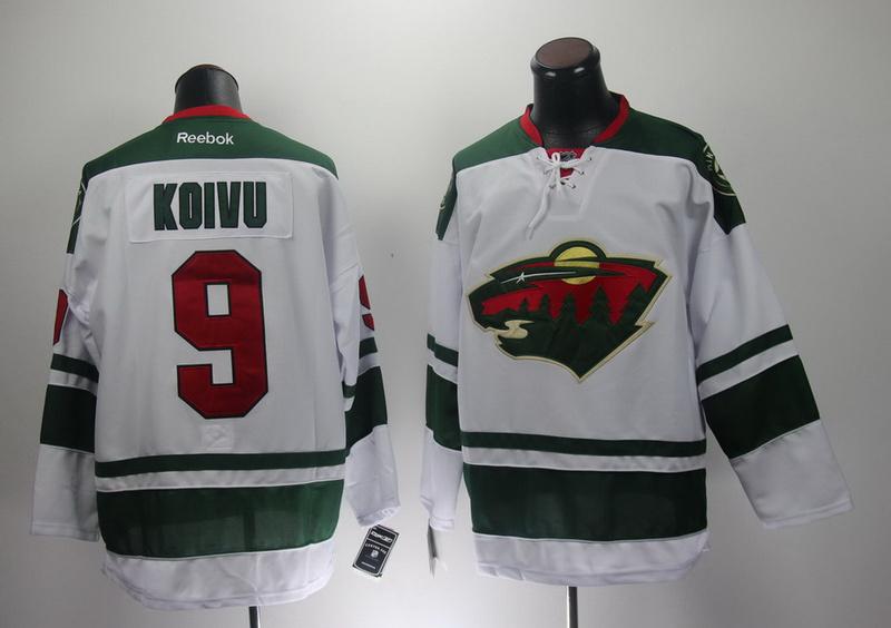 NHL Reebok Minnesota Wild 9 Mikko Koivu White 2014 New Jersey