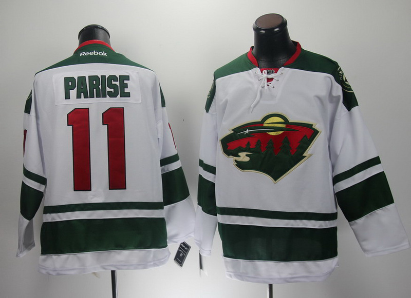 NHL Reebok Minnesota Wild 11 Zach Parise White 2014 New Jersey