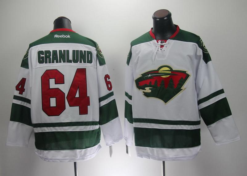 NHL Reebok Minnesota Wild 64 Granlund White 2014 New Jersey