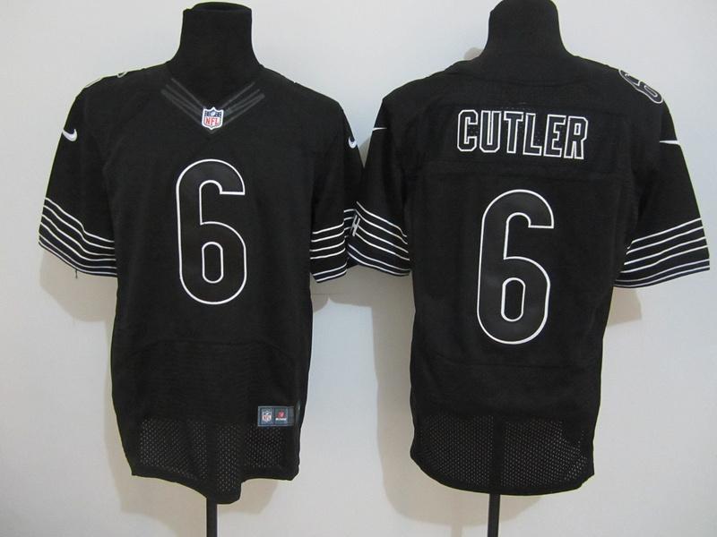 Chicago Bears 6 Jay Cutler Nike elite black Jersey
