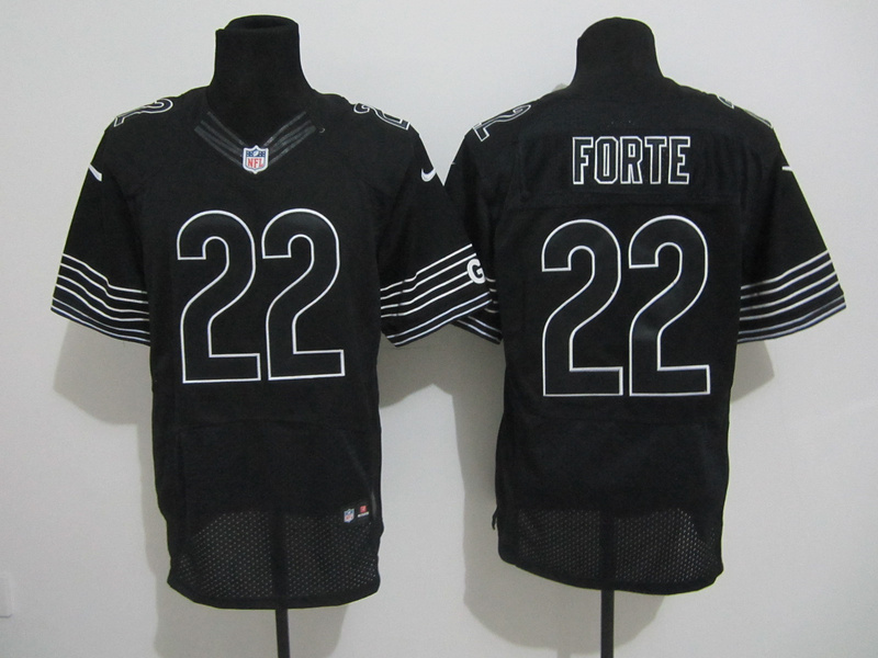 Chicago Bears 22 Forte Nike Elite black Jerseys