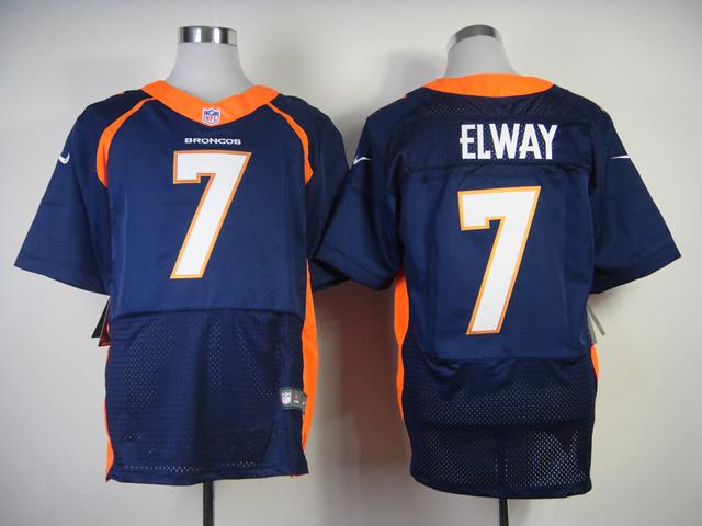 Denver Broncos 7 John Elway Orange 2013 Nike Elite Jerseys