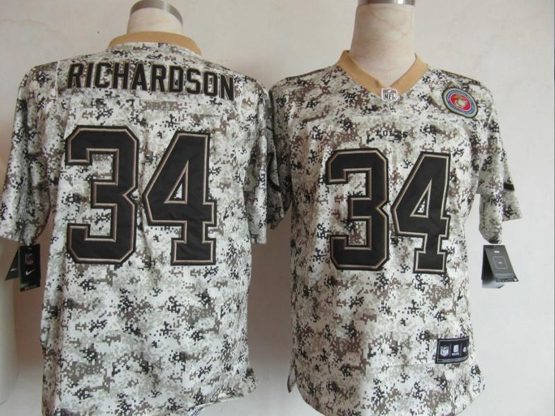 Indianapolis Colts 34 Richardson Nike Camo USMccuu Jerseys