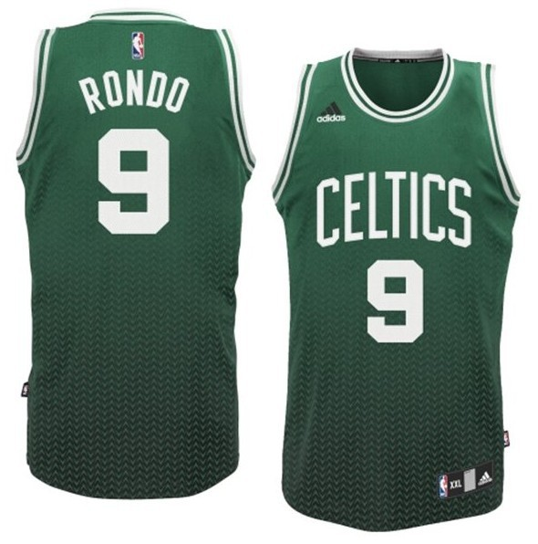 NBA Drift Fashion Jersey Boston Celtics 9 Rajon Rondo Green