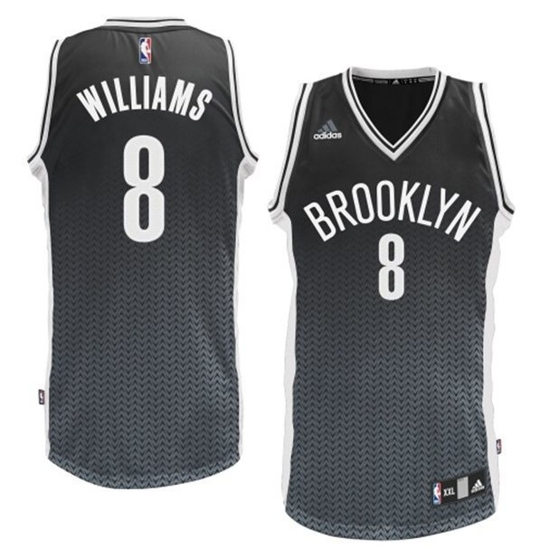 NBA Drift Fashion Jersey Brooklyn Nets 8 Deron Williams Black