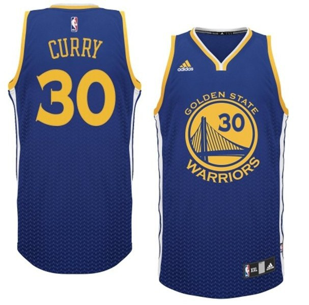 NBA Drift Fashion Jersey Golden State Warriors 30 Stephen Curry Blue