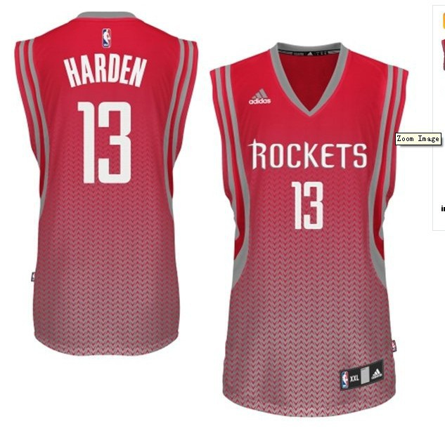 NBA Drift Fashion Jersey Houston Rockets 13 The Beard Red