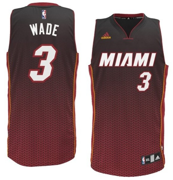 NBA Drift Fashion Jersey Miami Heat 3 Dwyane Wade burgundy
