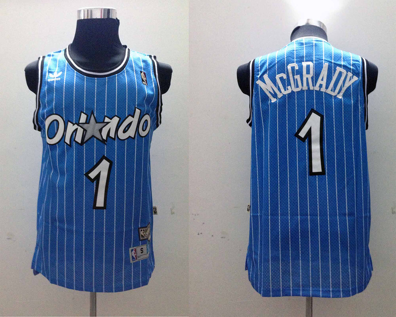 NBA Orlando Magic 1 Tracy McGrady Blue Jerseys