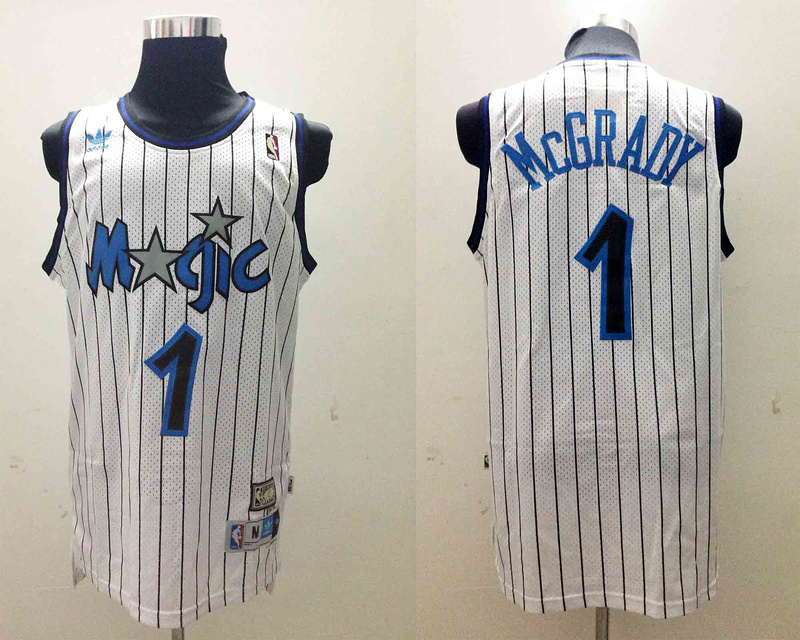 NBA Orlando Magic 1 Tracy McGrady White Jerseys
