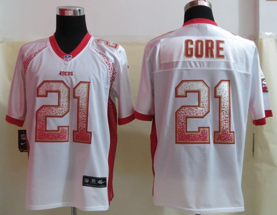 2013 NEW Nike San Francisco 49ers 21 Gore Drift Fashion White Elite Jerseys