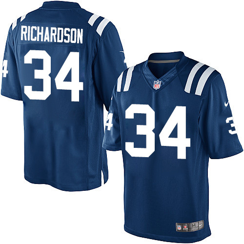 Indianapolis Colts 34 Trent Richardson Blue 2013 Nike Limited Jersey