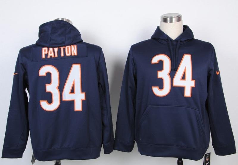 Nike NFL Chicago Bears 34 Walter Payton Blue Hoody