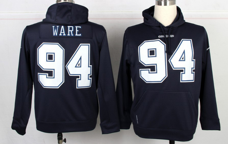 Nike NFL Dallas Cowboys 94 DeMarcus Ware Blue Hoodie