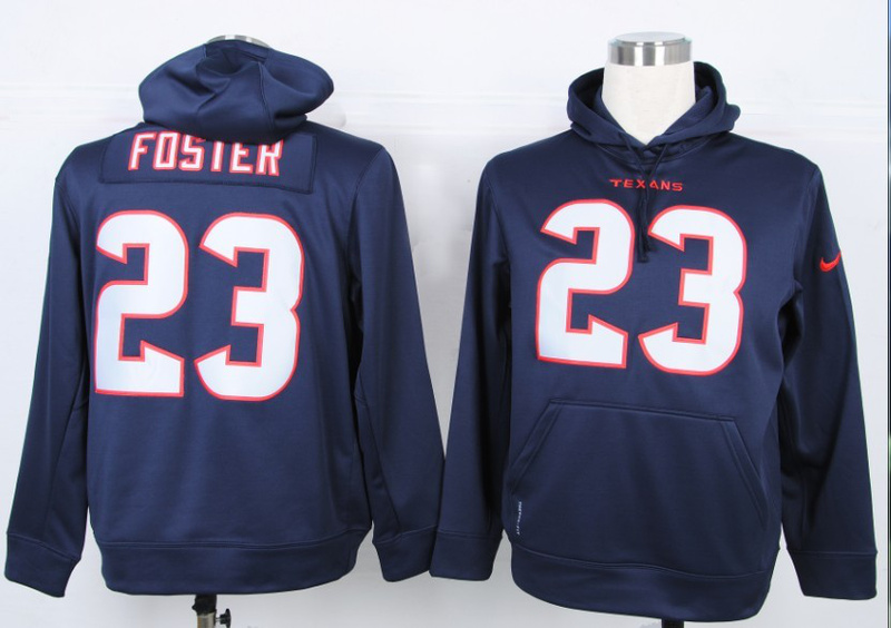 Nike NFL Houston Texans 23 Arian Foster Blue Hoody