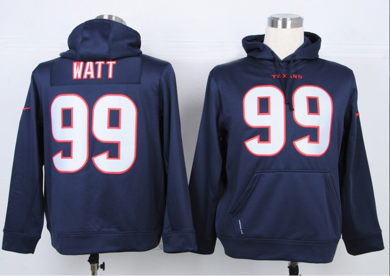 Nike NFL Houston Texans 99 J.J. Watt Blue Hoody