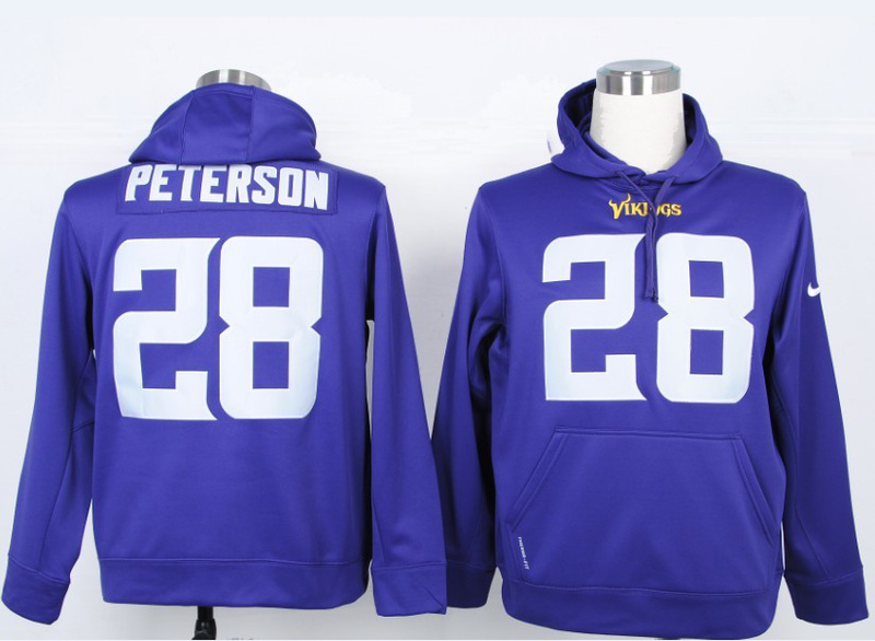 Nike NFL Minnesota Vikings 28 Adrian Peterson Purple Hoody