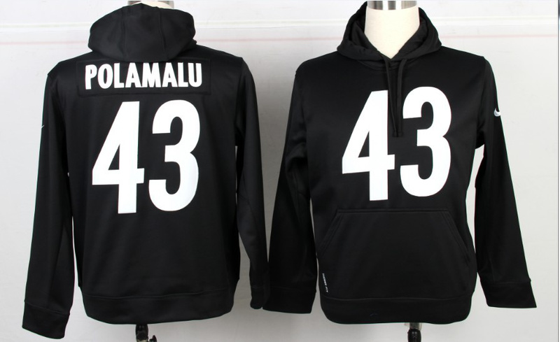 Nike NFL Pittsburgh Steelers 43 Troy Polamalu Black Hoodie 66caaf205