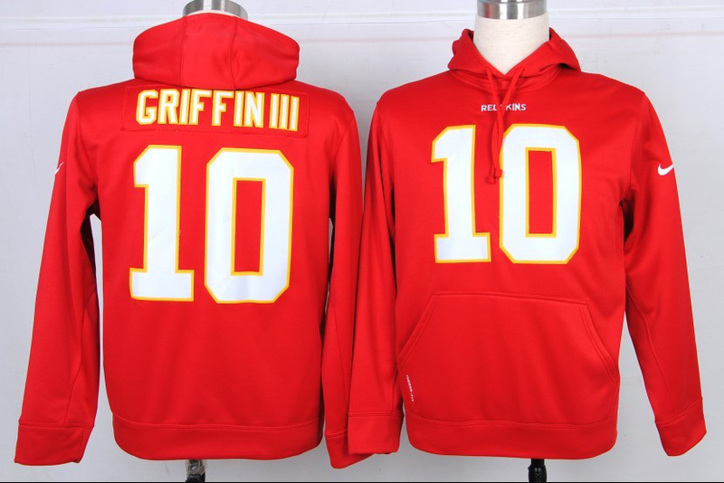 Nike NFL Washington Redskins 10 Robert Griffin III Red Hoodie e71eed703