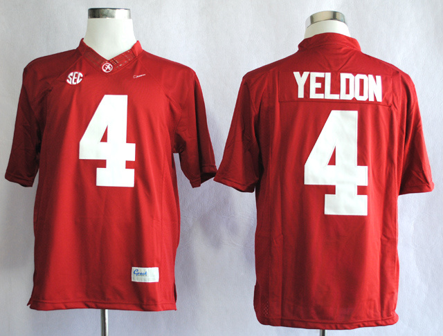 NCAA Alabama Crimson Tide 4 T.J Yeldon Red College Football Limited Jerseys