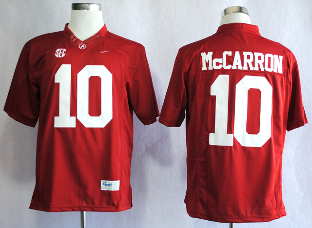 NCAA Alabama Crimson Tide 10 A.J McCarron Red College Football Limited Jerseys