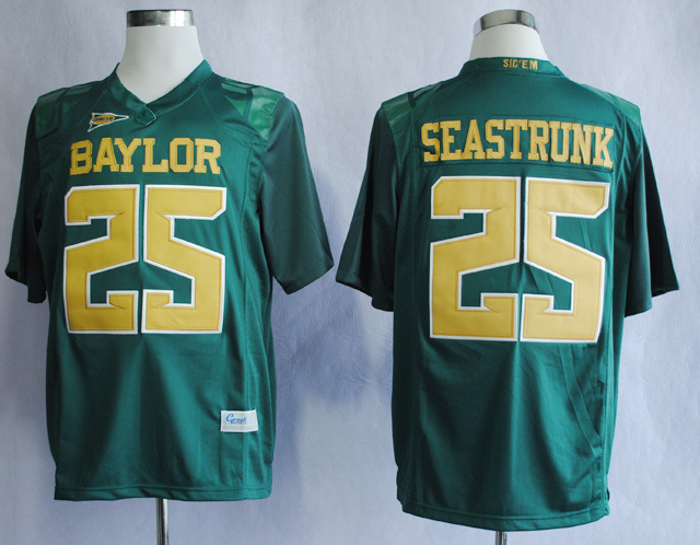 NCAA Baylor Bears Lache 25 Seastrunk Green College Football Jerseys