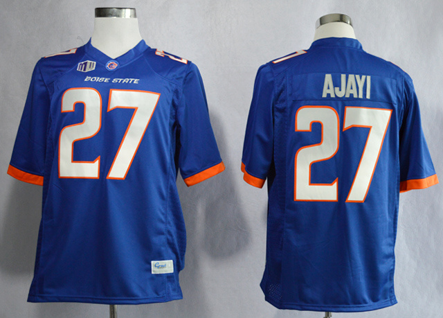 NCAA Boise State Broncos 27 Jay Ajayi Blue College Football Jerseys