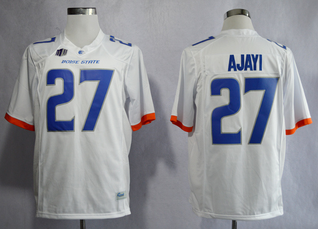 NCAA Boise State Broncos 27 Jay Ajayi White College Football Jerseys