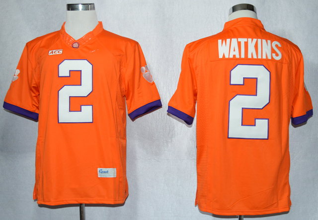 NCAA Clemson Tigers 2 Sammy Watkins Orange College Football Limited Jerseys