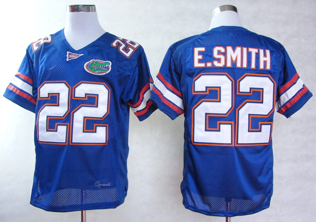 NCAA Florida Gators 22 E.Smith Blue College Football Jerseys