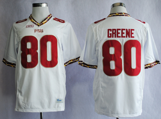 NCAA Florida State Seminoles FSU 80 Rashad Greene White College Football Jerseys