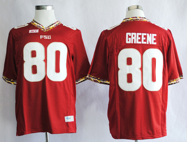 NCAA Florida State Seminoles FSU 80 Rashad Greene Red College Football Jerseys