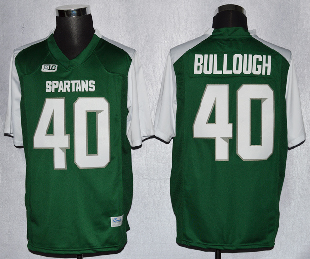 NCAA Michigan State 40 Max Bullough Green College Football Jerseys
