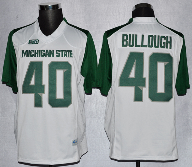 NCAA Michigan State 40 Max Bullough White College Football Jerseys