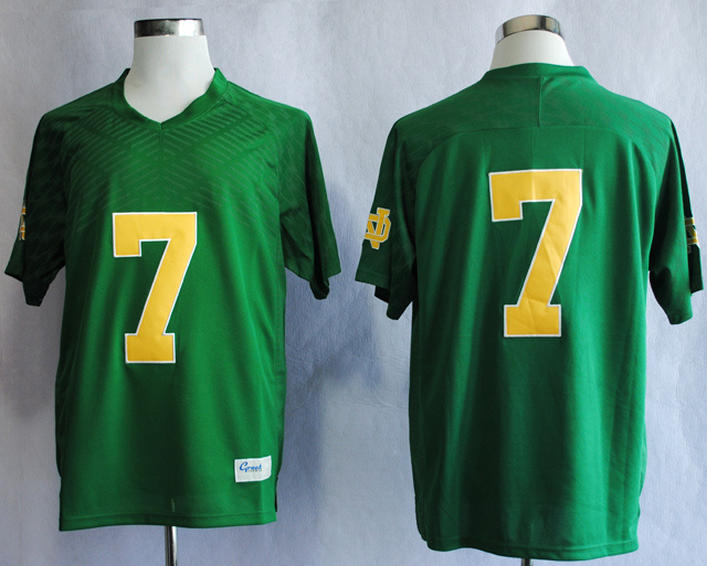 NCAA Notre Dame Fighting Irish 7 Stephon Tuitt Green Techfit College Football Jersey