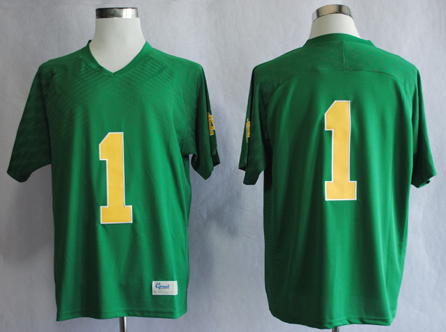 NCAA Notre Dame Fighting Irish Louis Nix III 1 Techfit Green College Football Jersey