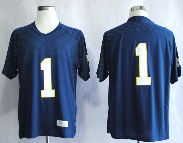 NCAA Notre Dame Fighting Irish Louis Nix III 1 Techfit Navy Blue College Football Jersey