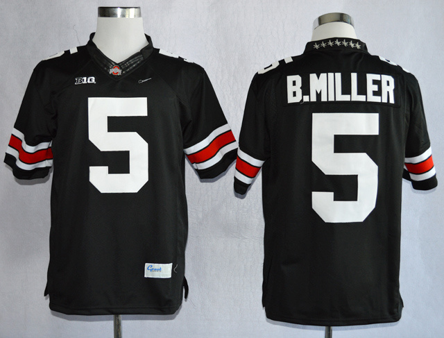 NCAA Ohio State Buckeyes 5 Braxton Miller Black College Football Limited Jerseys