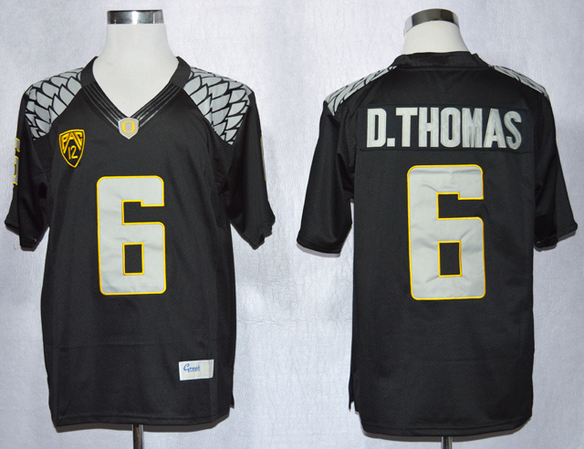 NCAA Oregon Duck 6 De'Anthony Thomas Black College Football Limited Jerseys