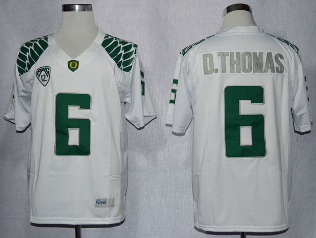 NCAA Oregon Duck 6 De'Anthony Thomas White College Football Limited Jerseys