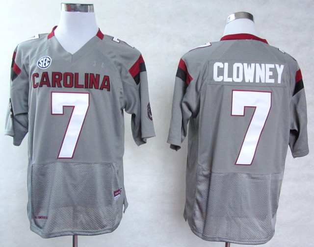 NCAA South Carolina Gamecocks 7 Jadeveon Clowney Grey College Football 2013 Jersey