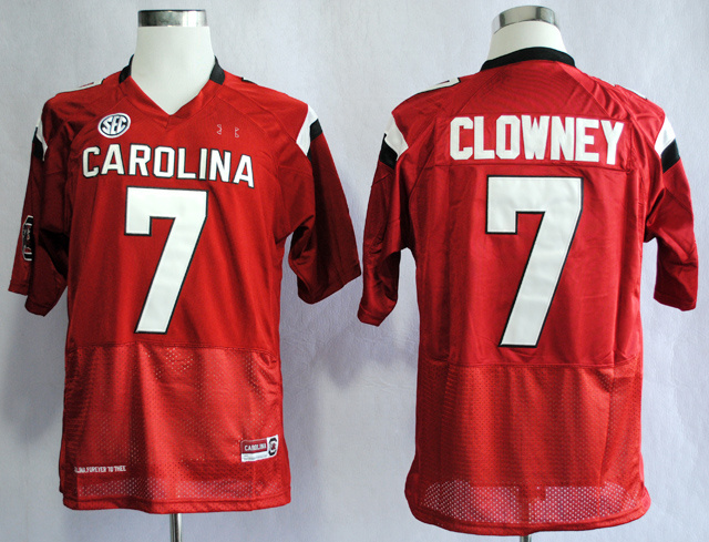 NCAA South Carolina Gamecocks 7 Jadeveon Clowney Red College Football 2013 Jersey