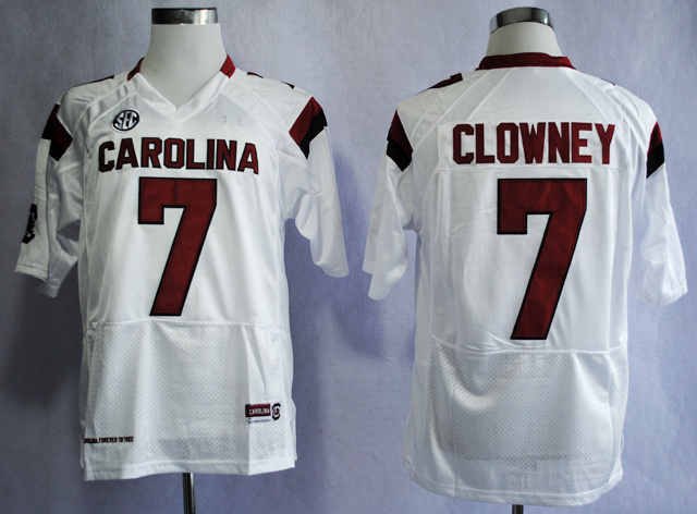 NCAA South Carolina Gamecocks 7 Jadeveon Clowney White College Football 2013 Jersey