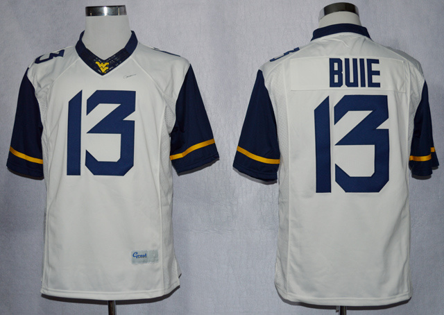 NCAA West Virginia Mountaineers WVU 13 Andrew Buie White College Football Limited Jerseys