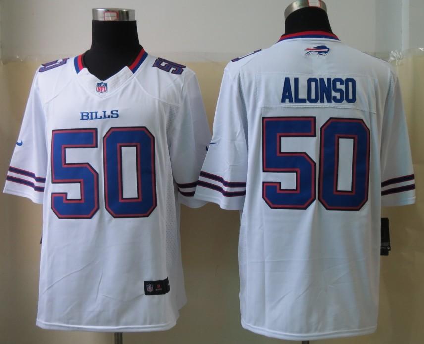 Buffalo Bills 50 Alonso White 2013 Nike Limited Jerseys
