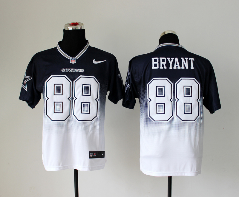 Dallas Cowboys 88 Dez Bryant Black White Nike Drift Fashion II Elite Jerseys
